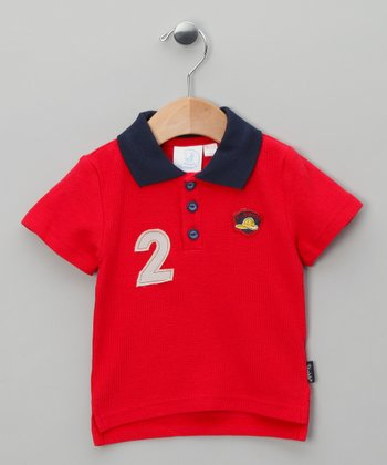 Red '2' Polo - Infant
