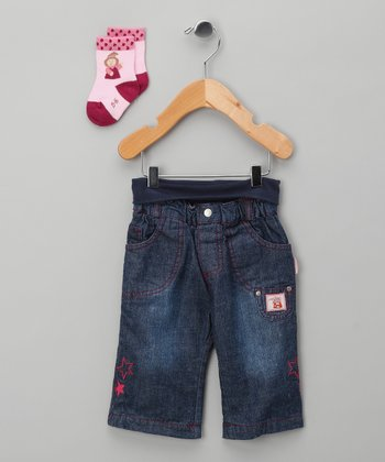 Classic Wash Witch Jeans & Socks - Infant
