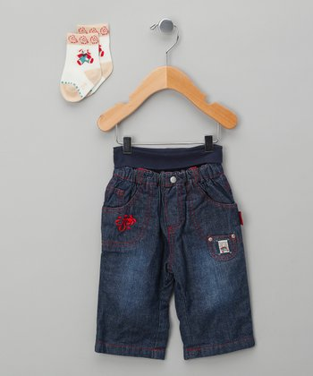 Classic Wash Puppy Jeans & Socks - Infant