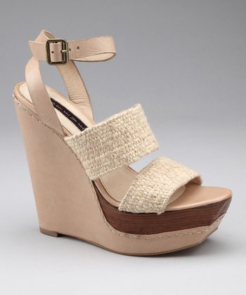 Natural Bernidet Platform Wedge