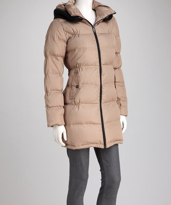 Steve Madden Tan Down Coat