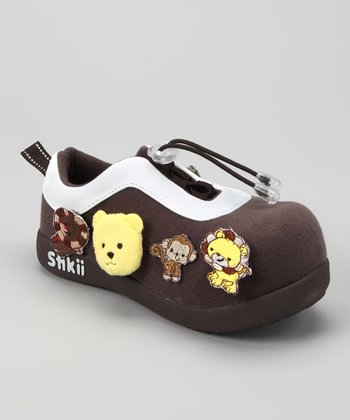Brown & Yellow Bear Sneaker