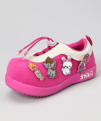 Fuchsia Pirate Girl Sneaker