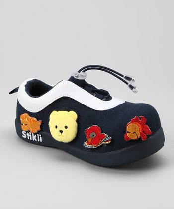 Navy & Yellow Bear Sneaker