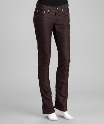 Coffee Bean Seminole Straight-Leg Pants