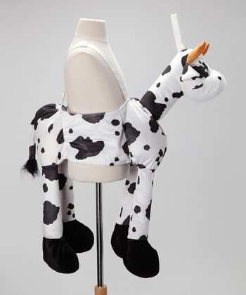 Black & White Plush Cow Dress-Up Outfit - Toddler & Kids