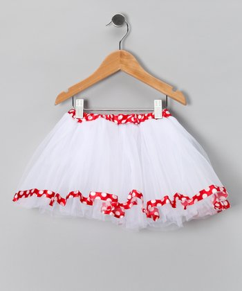 White & Red Polka Dot Tutu