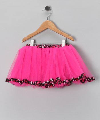 Hot Pink & Black Heart Tutu