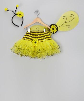 Yellow Bee Dress-Up Set - Girls