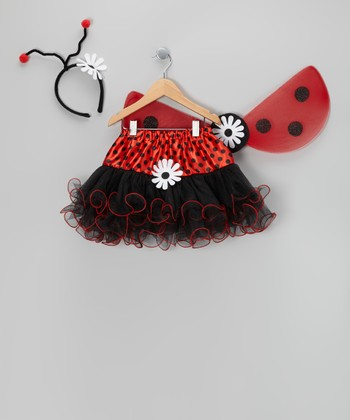 Red Ladybug Dress-Up Set - Girls