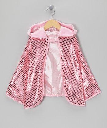 Pink Sequin Cape - Girls