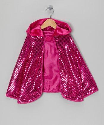 Hot Pink Sequin Cape - Girls