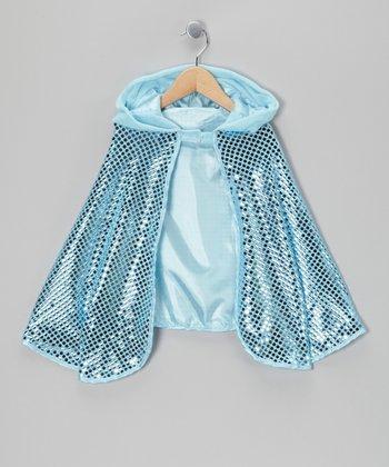 Blue Sequin Cape - Girls