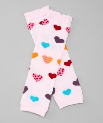 Purple & Teal Girly Heart Leg Warmers