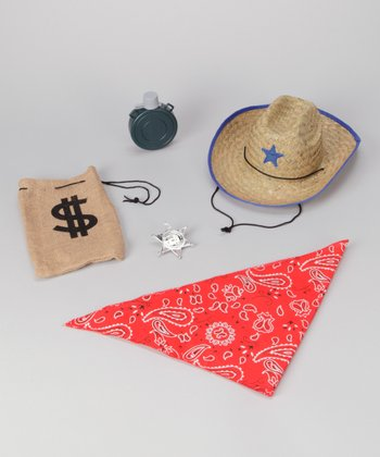 Brown Cowboy Accessory Dress-Up Set
