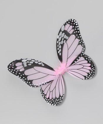 Pink & Black Monarch Butterfly Wings