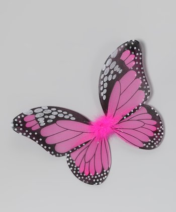 Hot Pink & Black Monarch Butterfly Wings