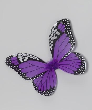 Purple & Black Monarch Butterfly Wings