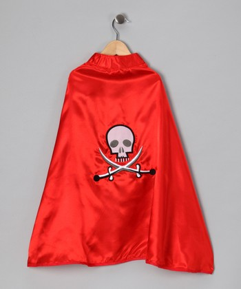 Red Pirate Cape - Kids