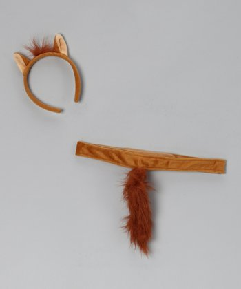 Brown Horse Headband & Tail