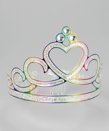 Rainbow Glitter Tiara