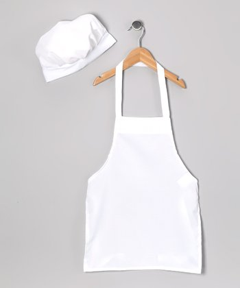 White Chef Apron & Hat