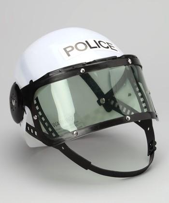 White Police Helmet