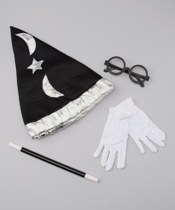 Black Wizard Hat Dress-Up Set
