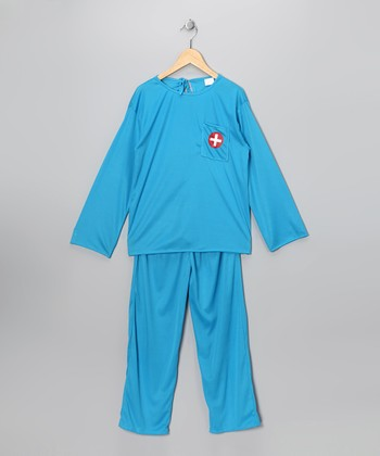 Blue Doctor Long-Sleeve Dress-Up Top & Pants - Kids