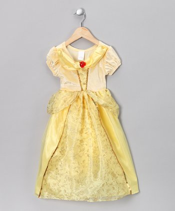 Yellow Princess Puff-Sleeve Dress - Toddler & Girls