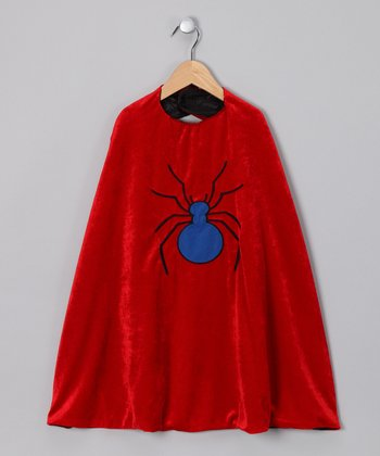 Red Spider & Black Bat Reversible Cape
