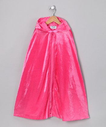 Pink Velour Cape - Kids