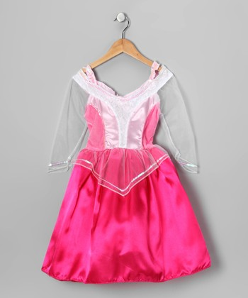Pink Princess Sheer-Sleeve Dress - Girls