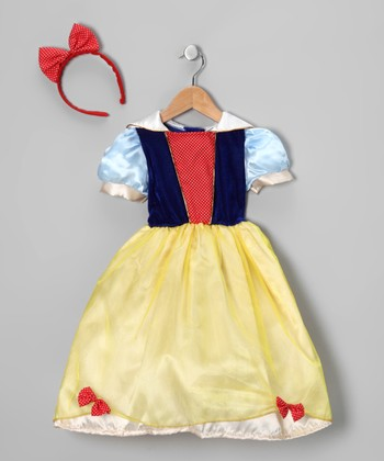 Yellow & Blue Princess Dress-Up Set - Girls