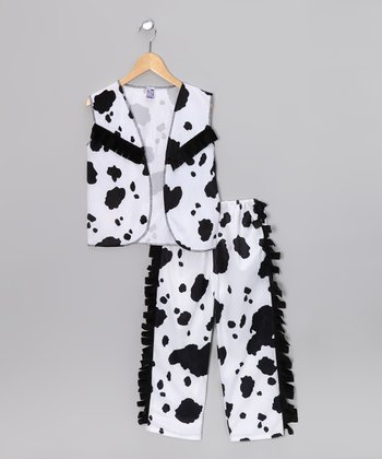 Black & White Cowgirl Dress-Up Set - Kids
