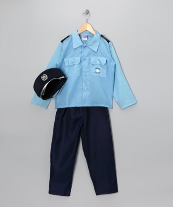 Blue Police Dress-Up Set - Kids