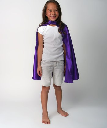 Purple Satin Cape