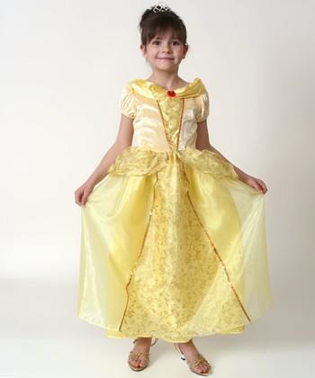 Yellow & Cream Glitter Dress - Toddler & Girls