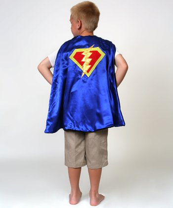 Black & Blue Knight & Superhero Reversible Cape