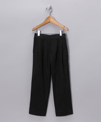 Black Pleated Pants - Toddler & Boys