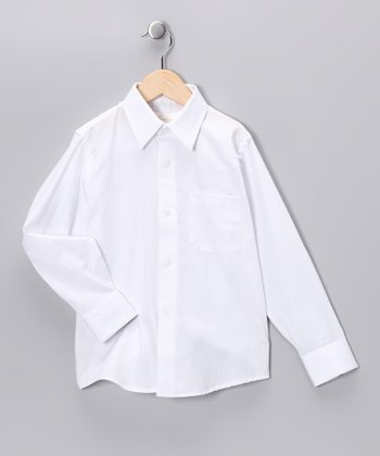 Strasburg White Button-Up - Toddler & Boys