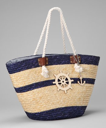 Navy Ship's Wheel Tote