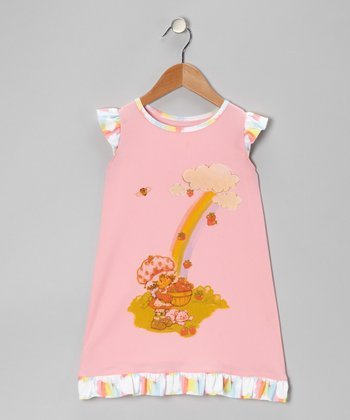 Light Pink Strawberry Shortcake Nightgown - Toddler