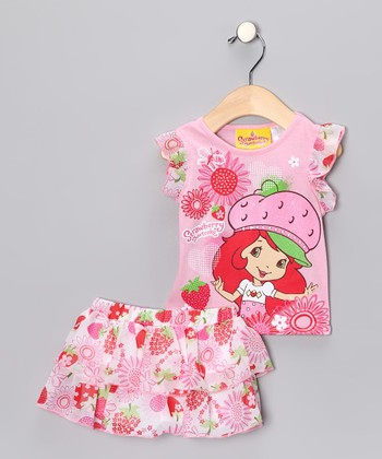 Pink Strawberry Shortcake Tee & Skort - Infant, Toddler & Girls