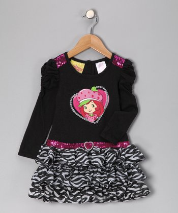 Black Strawberry Shortcake Dress - Infant, Toddler & Girls