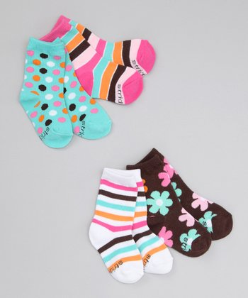 Colorful Stripe Crew Socks Set