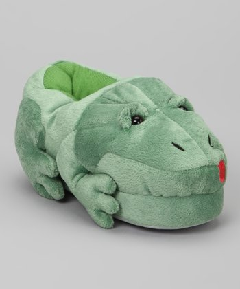 Green Frog Sound Slipper - Kids