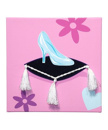 Glass Slipper Embellished Wall Art