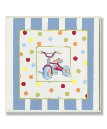 Tricycle Polka Dot & Stripe Wall Art