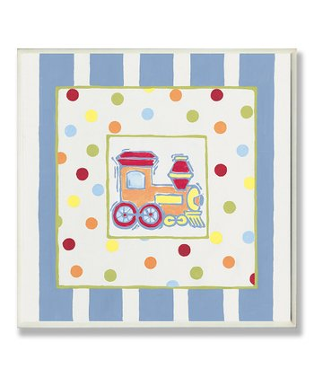 Train Polka Dot & Stripe Wall Art